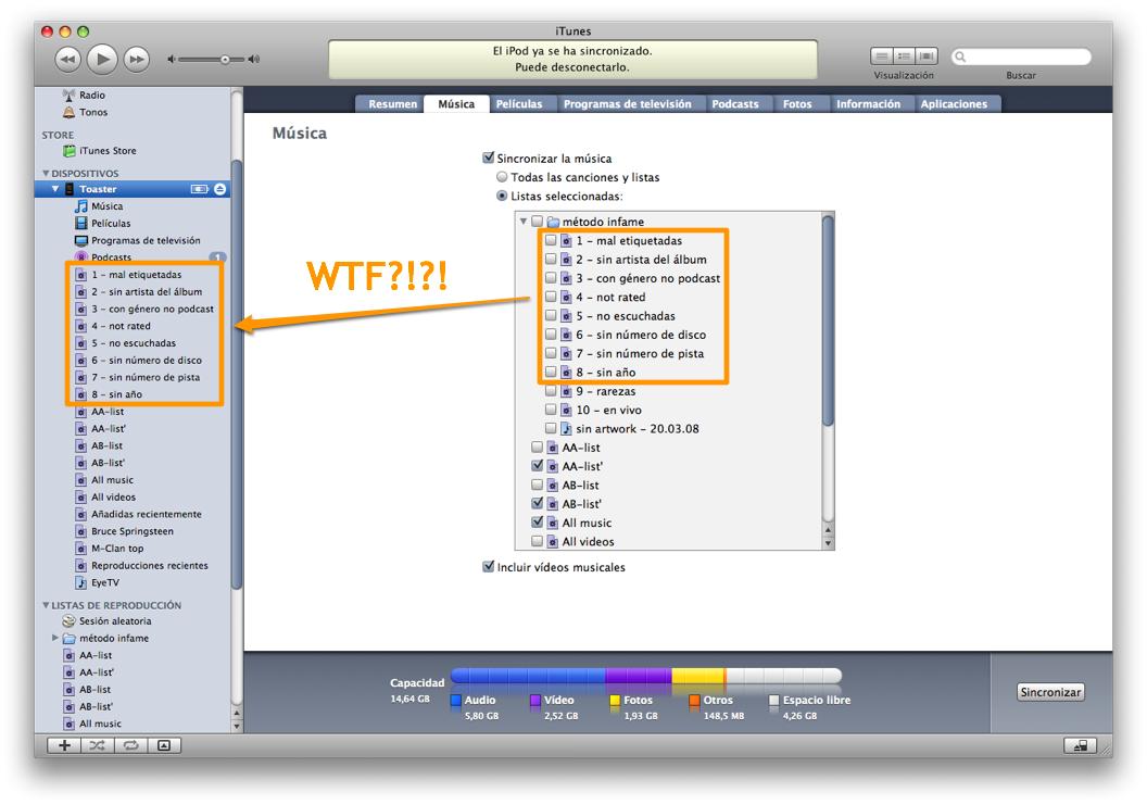 iPod WTF: iTunes WTF