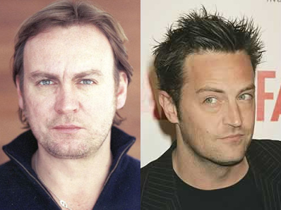 Parecidos razonables: Philip Glenister vs. Matthew Perry